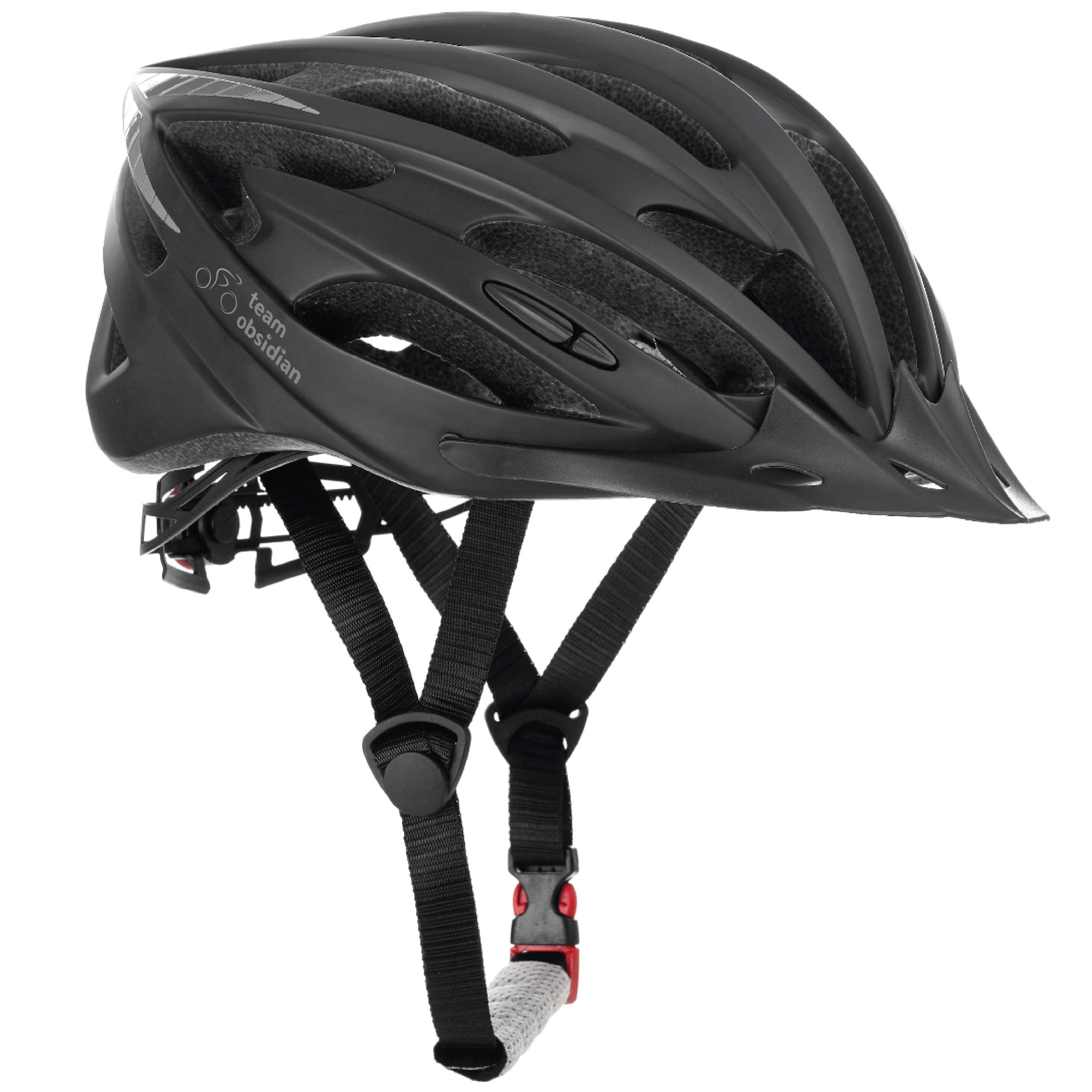 TeamObsidian Airflow Bike Helmet with in-Molded Reinforcing Skeleton for Added Protection - Adult Size, CPSC Safety Certified - Comfortable, Lightweight, Breathable product image