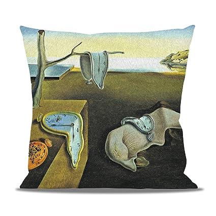 Relojes de fusión Salvador Dalí Fine Art cojín de forro polar – almohada en forma de
