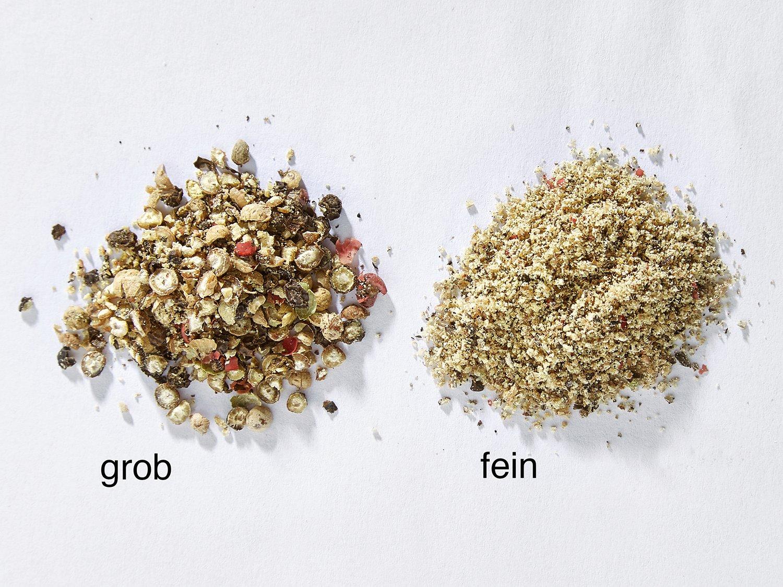 KG M59011 ST-AR GmbH /& Co Par exemple comme kit de moulin à sel et à poivre Multifonction : broie le sel les épices le poivre les herbes séchées Buonostar Kit 2 pièces moulins à épices bois avec broyeur en céramique