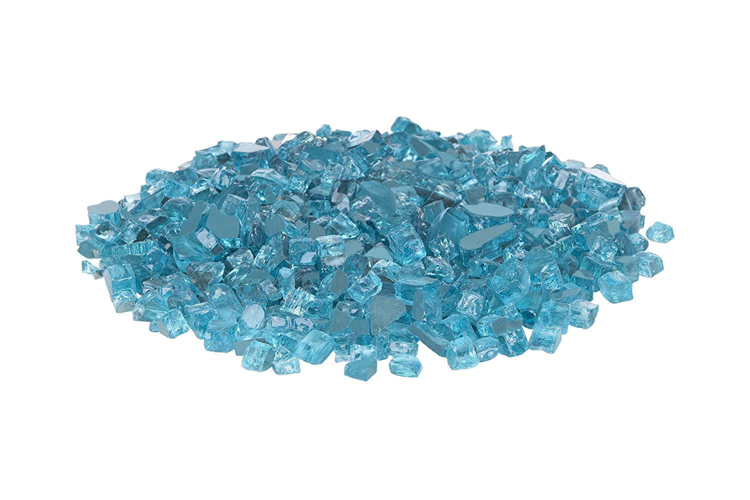 Fire Sense Bahama Blue Reflective Fire Glass 62364