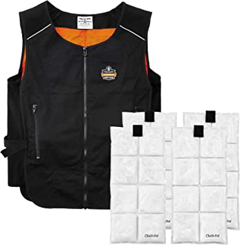Quick Recharge Cooling Ergodyne Chill Its 6260 Lightweight Cooling Vest with 4 Ice Packs