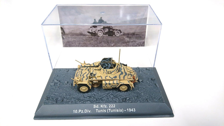 1/72 Sd. Kfz. 222 10.Pz.Div Tunisia - 1943 DA17 DeAgostini