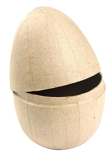 Decopatch Mache E Le Istruzioni Per Fare Scatola A Forma Di Uovo Di