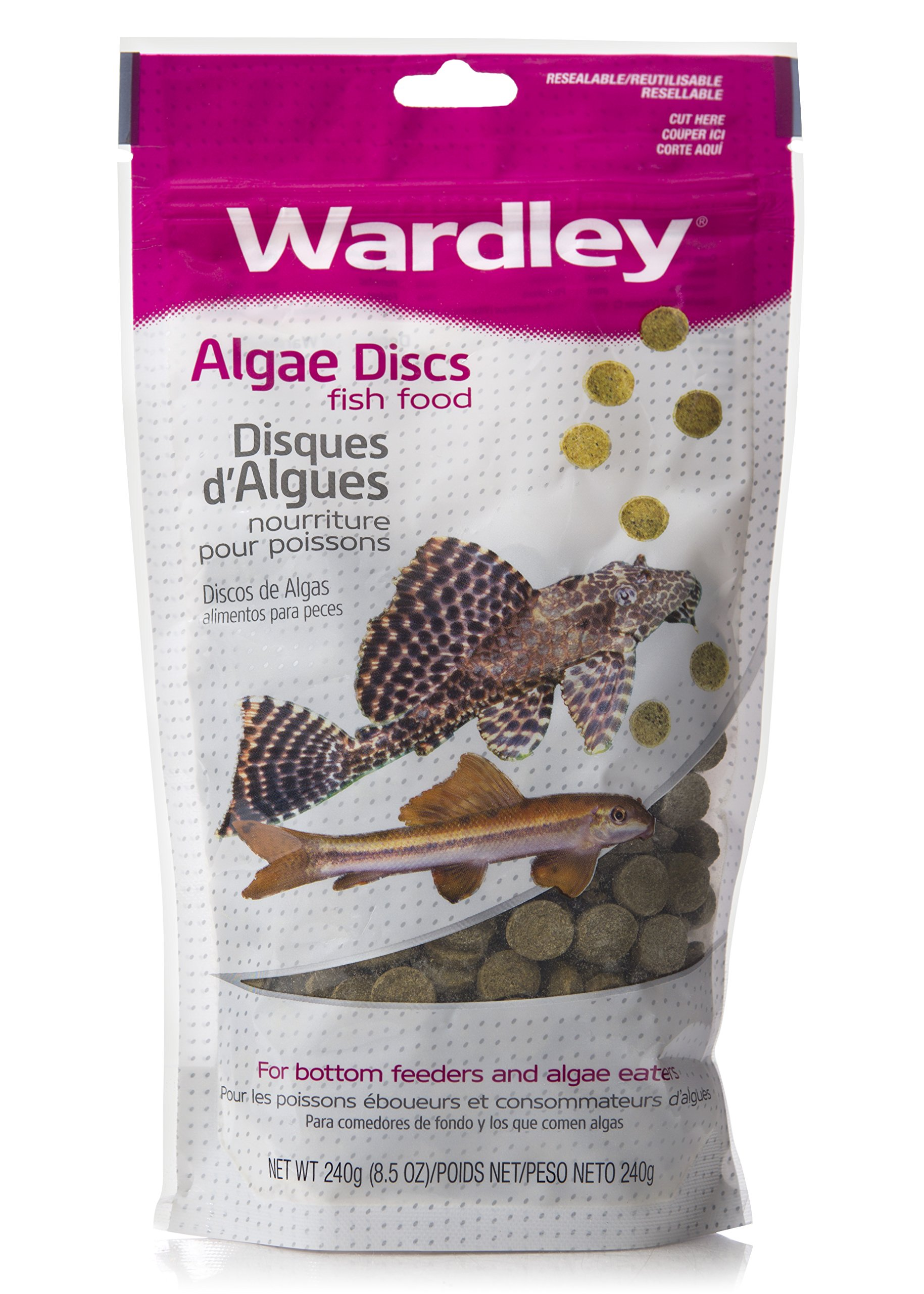 HARTZ Wardley Algae Discs Fish Food for Bottom and Algae Eaters - 8.5oz by HARTZ (Image #1)