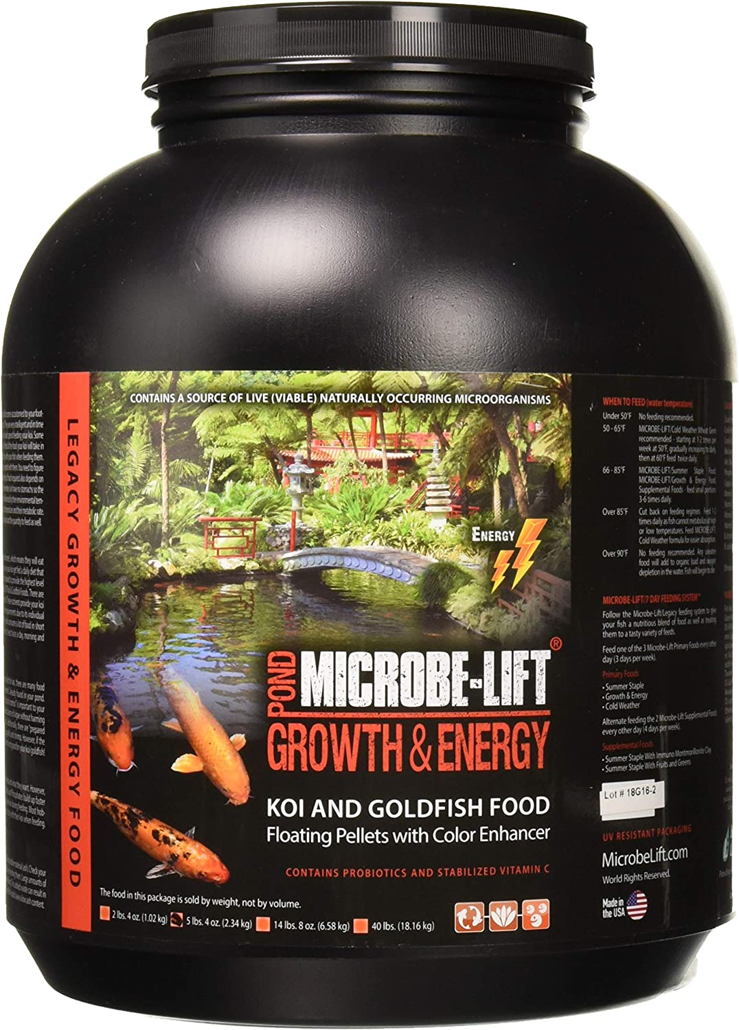 Eco Labs MLLHGELG Microbe Lift High Growth and Energy Fish Food, 5.4-Pound