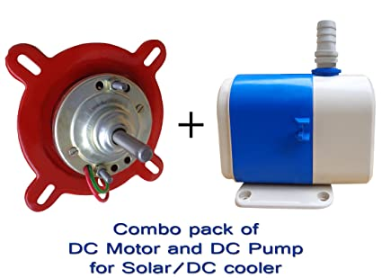 Combo pack of DC Motor + DC Pump For solar cooler/DC Cooler II High quality  DC motor and DC Pump for Solar cooler II 12 volt DC Motor And DC Pump For