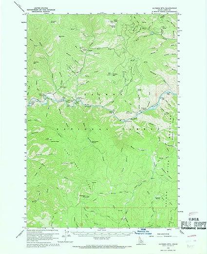 Amazon.com: Idaho Maps   1960 Ulysses Mtn, ID USGS Historical ...