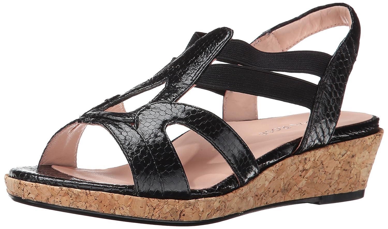 Taryn Rose Women's Tene Wedge Sandal B00O9VGZBY 6 B(M) US|Black