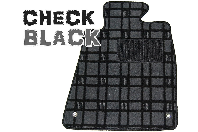【マット製造40年の実績】日産 セレナ e-POWER フロアマット1台分(1~3列分) 適合型式:C27 e-POWER ロングスライド車(2018年3月~)/チェック黒 B07B7J366Q