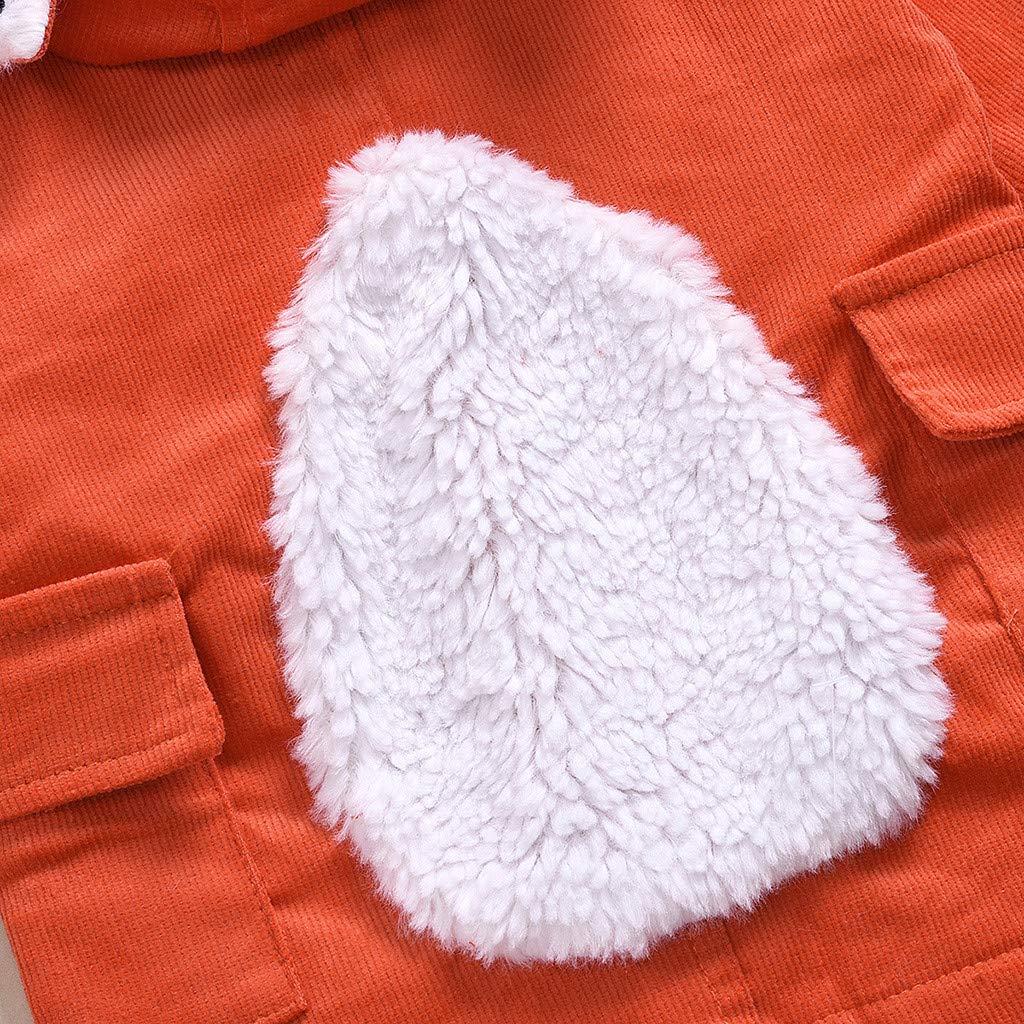 Robemon Manteaux B/éb/é Gar/çon Fille Mode Veste De Renard Dessin Anim/é Blousons Manches Longues Enfant Unisexe Coupe-Vent 1-6 Ans