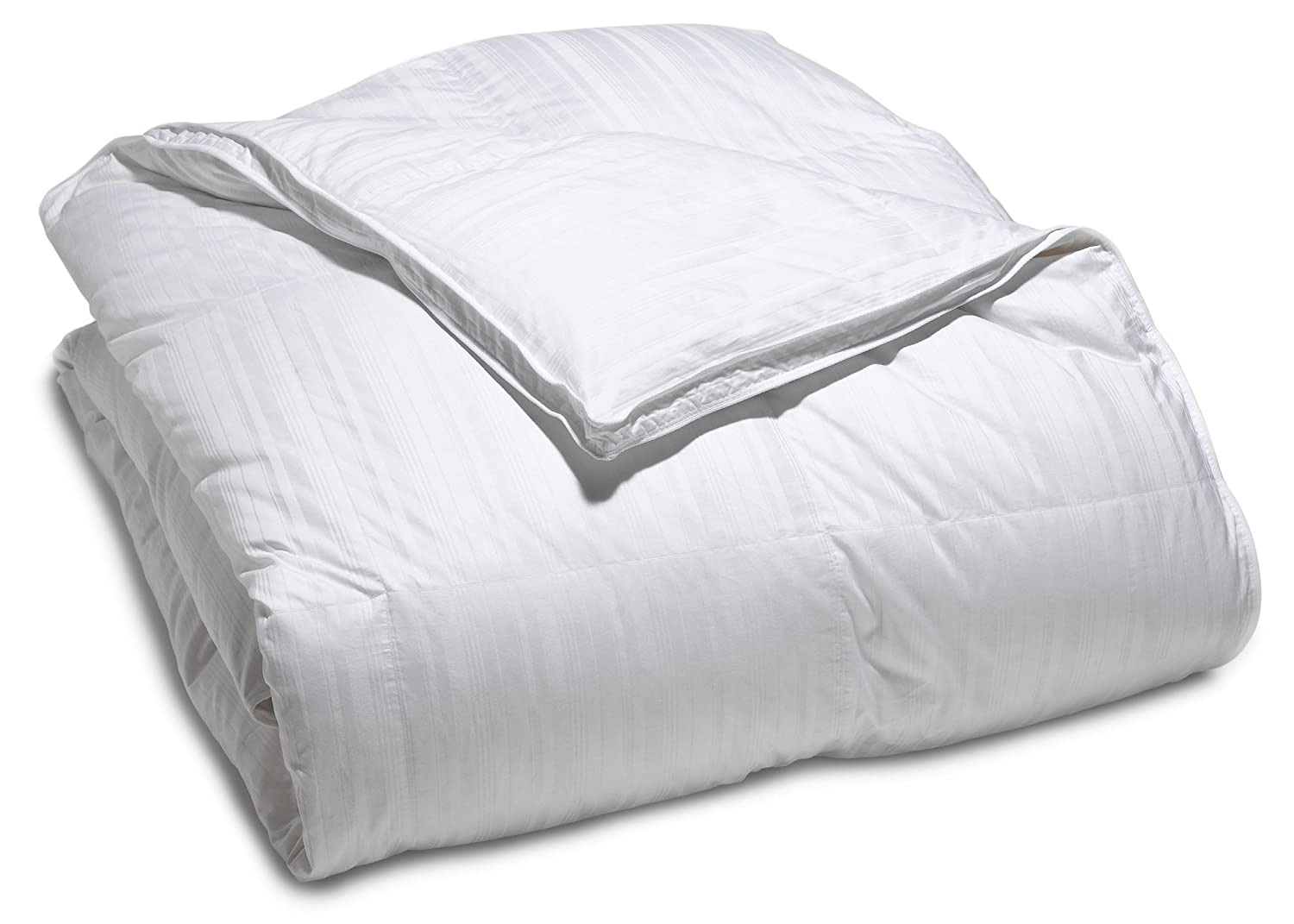 Pinzon Hypoallergenic White Duck Down Comforter 100/% Cotton Cover Medium Warmth Twin AMA100CO0120-068-088