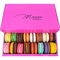 Leilalove Macarons - Mademoiselle de Paris - Collections of 15 - Gift box varies in color Macarons are packed…