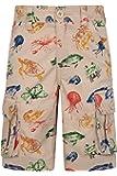 Mountain Warehouse Short Cargo pour Enfants imprimé - 100% Coton, léger, Respirant, Fibres Naturelles, Entretien Facile - Camping, randonnée