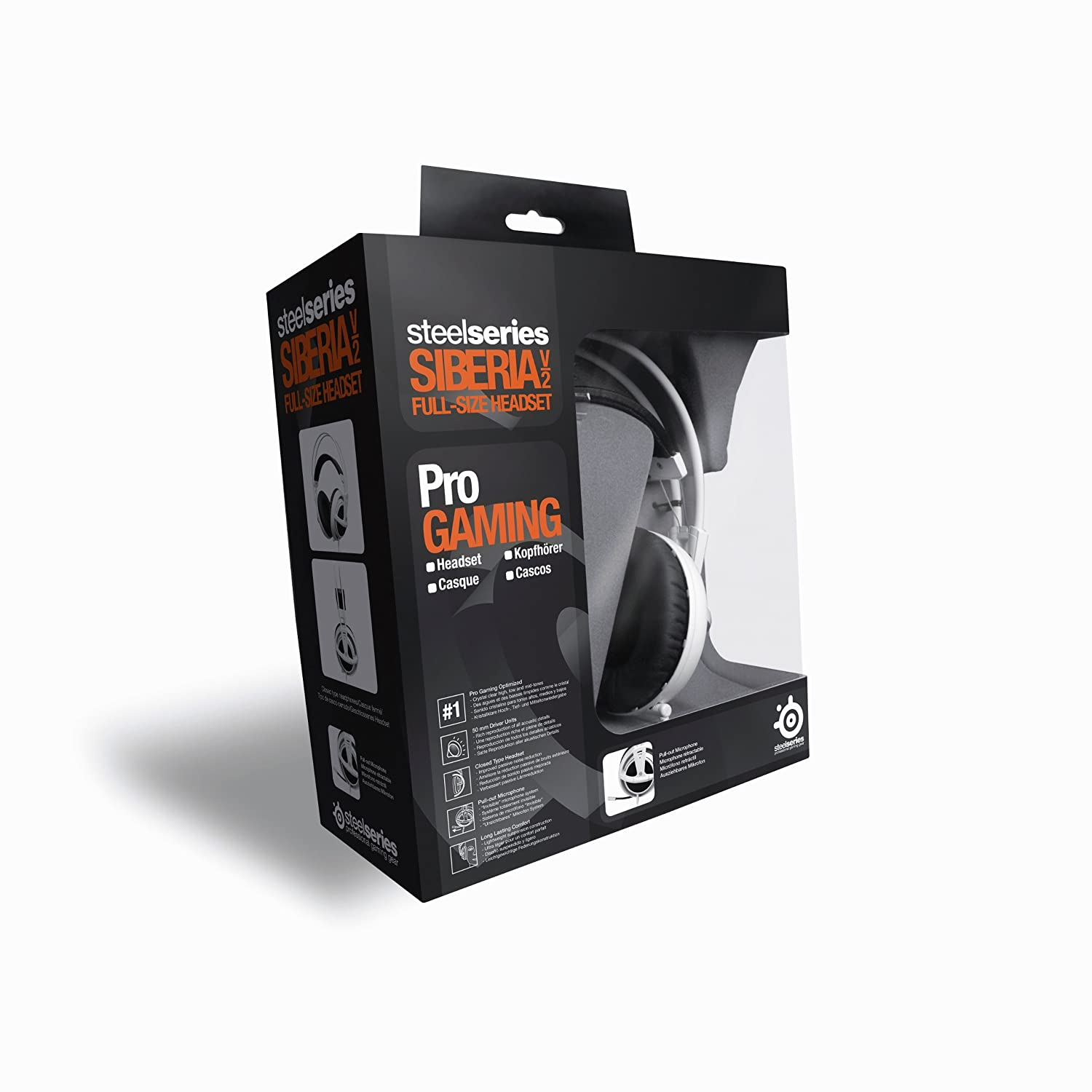 Amazon.com: SteelSeries 51100 Siberia V2 Headset White: Computers & Accessories