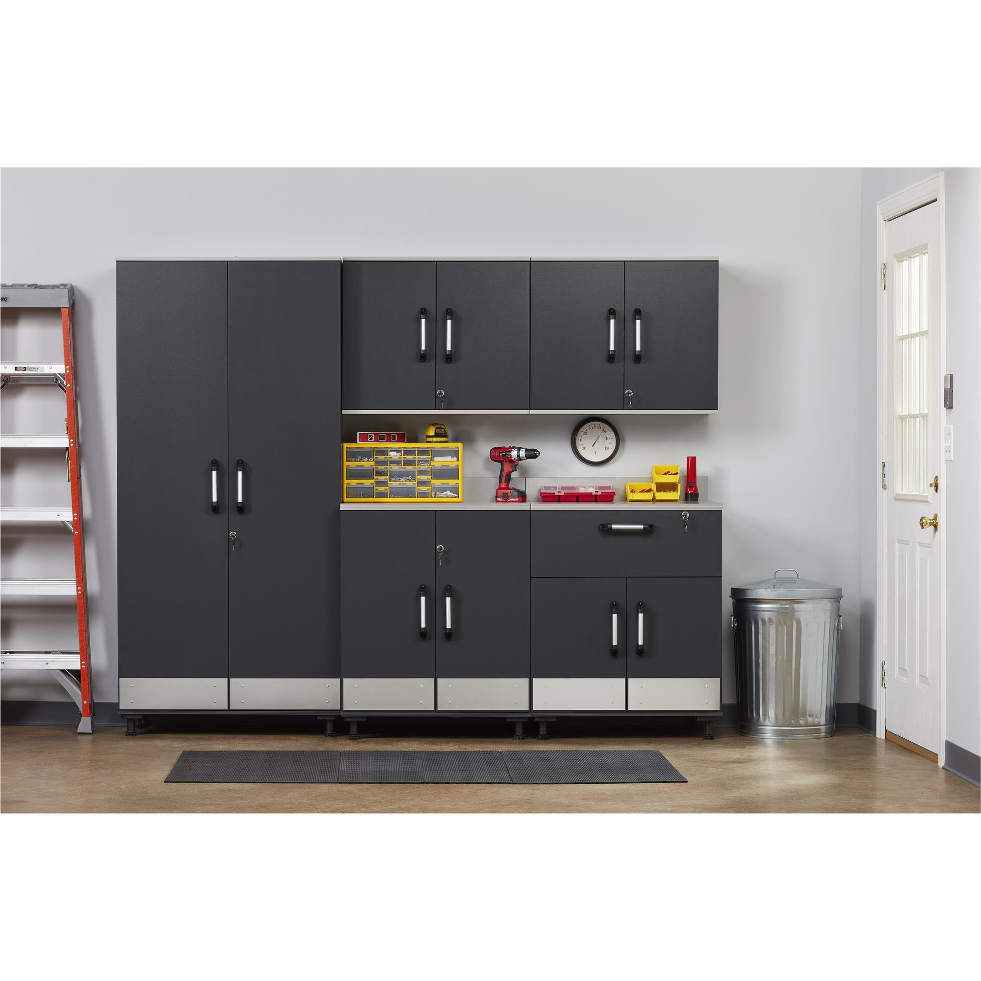 Ameriwood Home Boss -Base Cabinet 2 Door, Charcoal Gray by Ameriwood Home (Image #6)