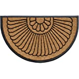"""Calloway Mills Shell Coir and Rubber Heavy-Duty 24"""" X 36"""" Over-Sized Doormat"""
