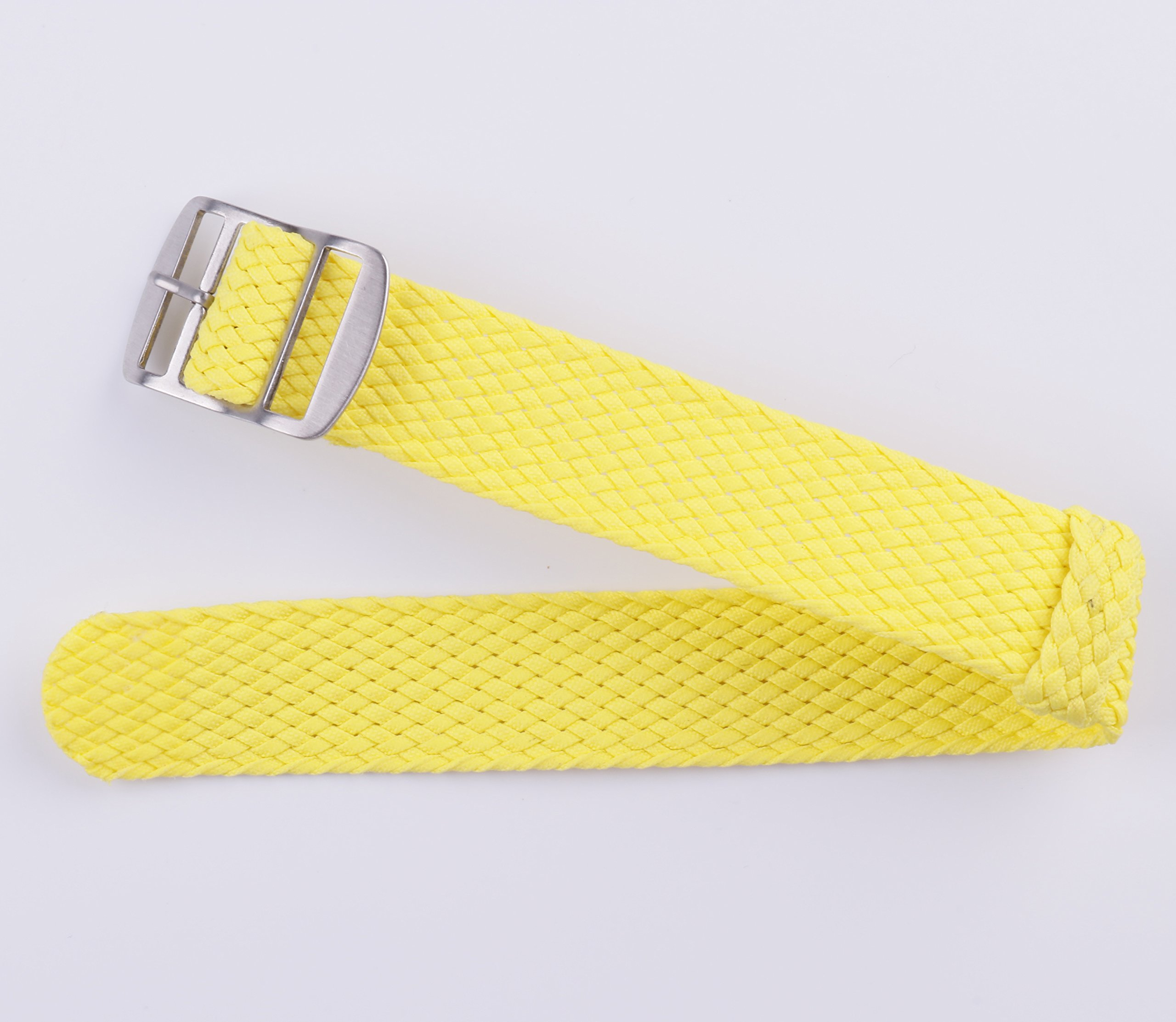 2pcs Nylon Watch Strap Perlon Braided Woven Replacement Watch Band Men Women 14mm 16mm 18mm 20mm 22mm Red by BONSTRAP (Image #4)