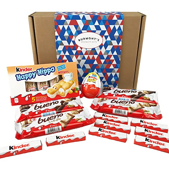 The Ultimate Kinder Selection Gift Box Bueno Kinder Joy Happy Hippo More 14 Items Hamper Exclusive To Burmonts