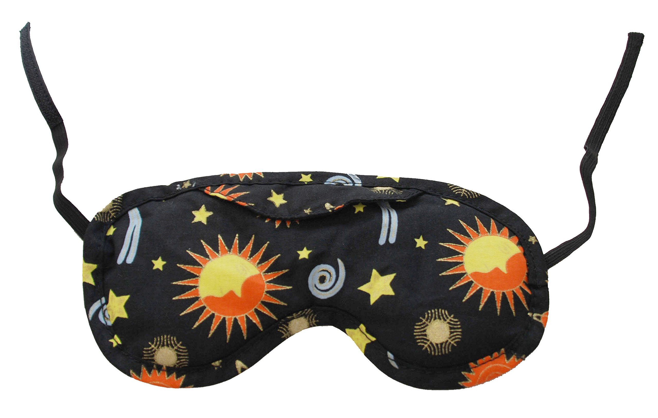 Nature's Approach Aromatherapy Lavender Eye Pillow with Satin Backing Herbal Pack, Celestial Black