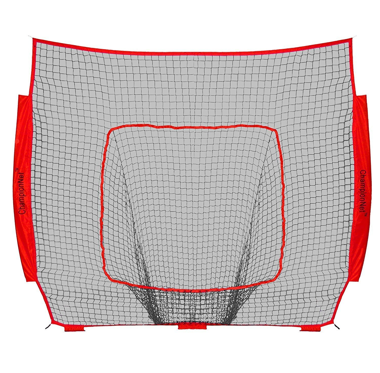 ChampionNet Baseball/Softball 7' x 7' Hitting Net Replacement NO FRAME - RED by ChampionNet
