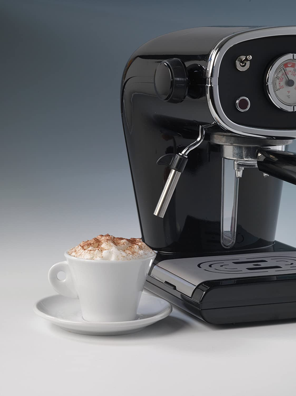 Ariete 1388-31 1388/30 CAFETERA Espresso ROJA Cafe Retro, 900 W, 1 Cups, Aluminio, Metal, Acero, Negro: Amazon.es: Hogar