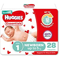 Essentials Nappies Size 1 (up to 5kg) 28 Count