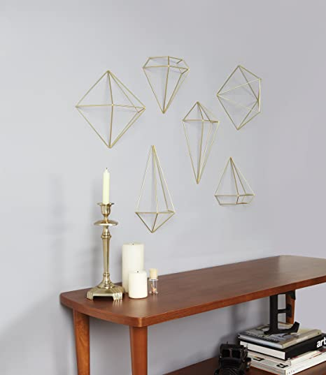 Umbra prisma decorative accents set of 6 brass amazon ca home kitchen