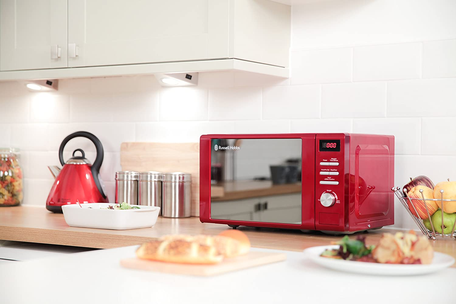 Russell Hobbs RHM2064R Red Digital Microwave