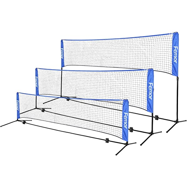 Tennis Volleyball Net,Portable Professional Training Standards Polypropylene Fiber Braided Badminton Net for Indoor or Outdoor Sports Garden Schoolyard Backyard Square Training 6.1mX0.76m