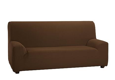 Martina Home Tunez - Funda elástica para sofá, Marrón, 1 Plaza (70-110 cm)