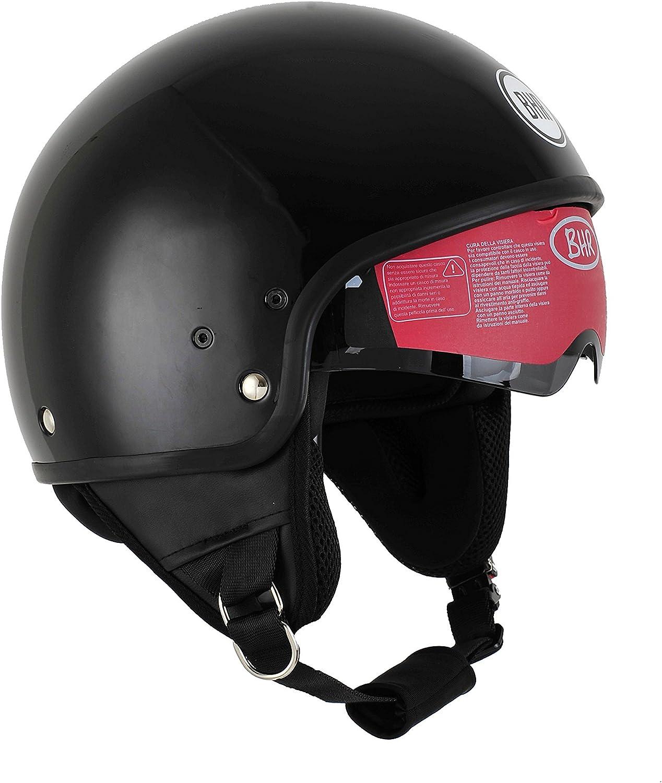 Bhr Motorrad Helm 802 Demi Typ Mit Visier Versenkbare Schwarz Metalizado Xs 53 54 Cm Auto