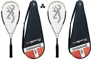 Browning Platinum Nano 2 x 110 Raquette de Squash 3 balles de Squash Dunlop