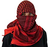 Maddog Sports Shemagh Tactical Desert Scarf - Red / Black