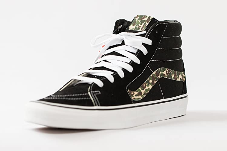 76c9c4b721 Amazon.com  Vans Sk8-HI Original Custom Bathing Ape Bape Camo Edition   Handmade