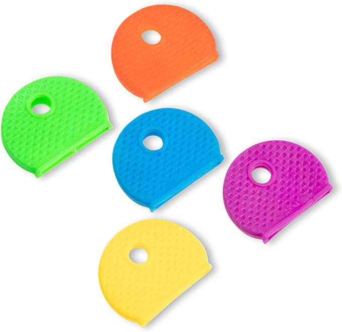 100 PIECE COLORED KEY RING IDENTIFIER REFILL FOR DISPLAY KIT