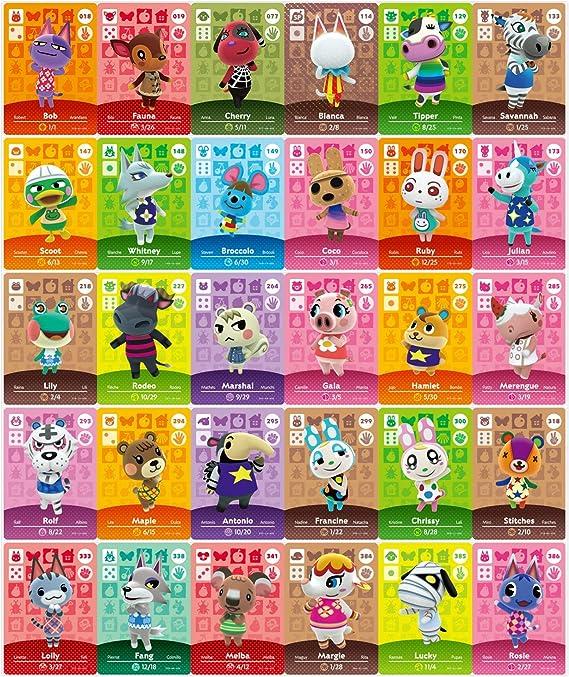 24 pcs Animal Crossing New Horizons ACHN NFC Tag Mini ...