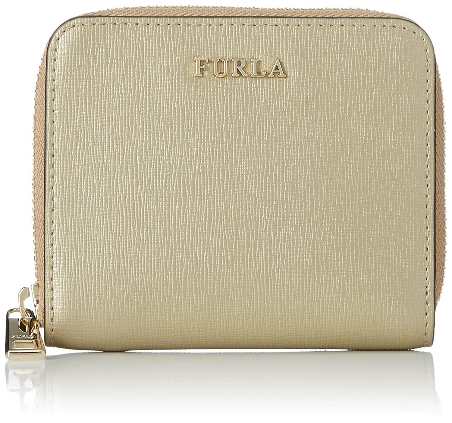 Furla - Babylon S Zip Around, Carteras Mujer, Dorado (Color Gold), 2x9x11 cm (B x H T): Amazon.es: Zapatos y complementos