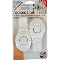 Mommy's Helper Applinace Lok Locking Strap for Refrigerator or Stove, White, 2-Pack