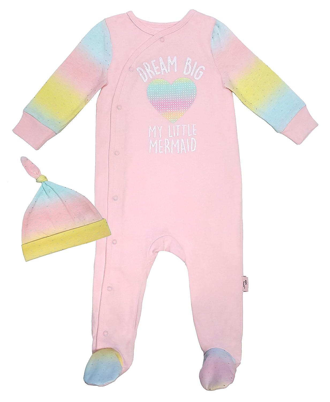 Mini Heroes - Infant Girl's 2PC Dream Big Sleeper and Hat Set NTD Apparel