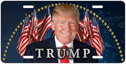 Donald Trump America Eagle Freedom USA  Flag Vanity Car Truck License Plate Tag