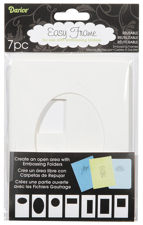 Amazon.com: Darice EZFRAME 7-Assorted Styles Embossing Folder Frame ...