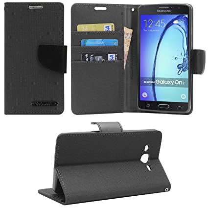 3253301d99 DMG Wallet Case Flip Cover for Samsung Galaxy On7 Pro: Amazon.in:  Electronics