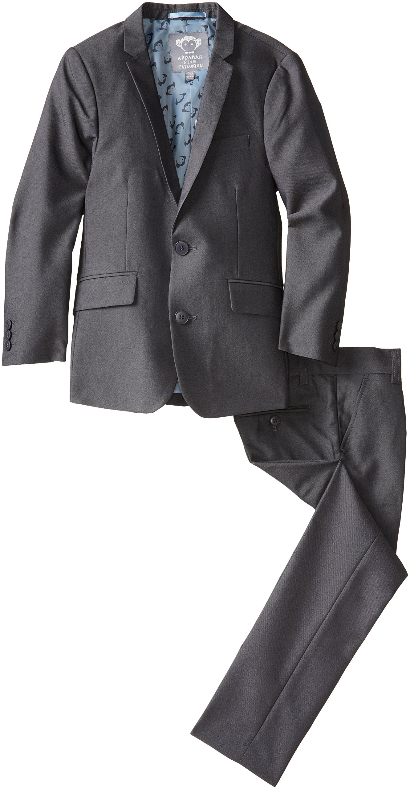 Appaman Big Boys' Two Piece Classic Mod Suit In Vintage Black, Vintage Black, 10
