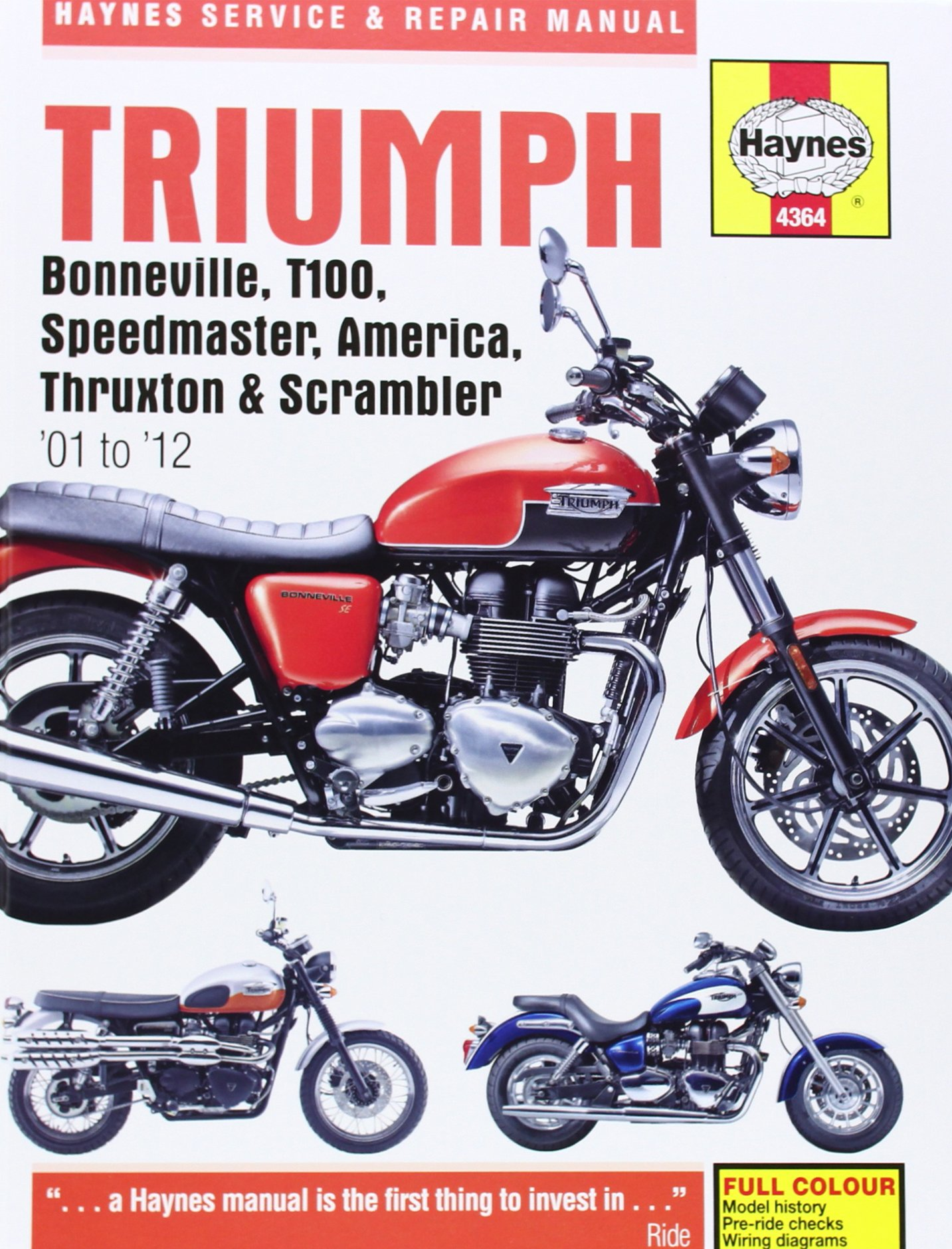 Triumph Bonneville, T100, Speedmaster, America Service and Repair Manual:  2001-2012 (Haynes Service and Repair Manuals): Amazon.co.uk: Matthew  Coombs, ...