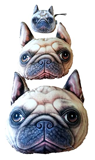 Amazon.com: Comfy zona efecto 3d Pet Face almohada 3 piezas ...