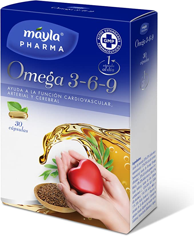 Mayla Omega 3 6 9 Complemento Alimenticio - 30 Cápsulas: Amazon.es: Salud y cuidado personal