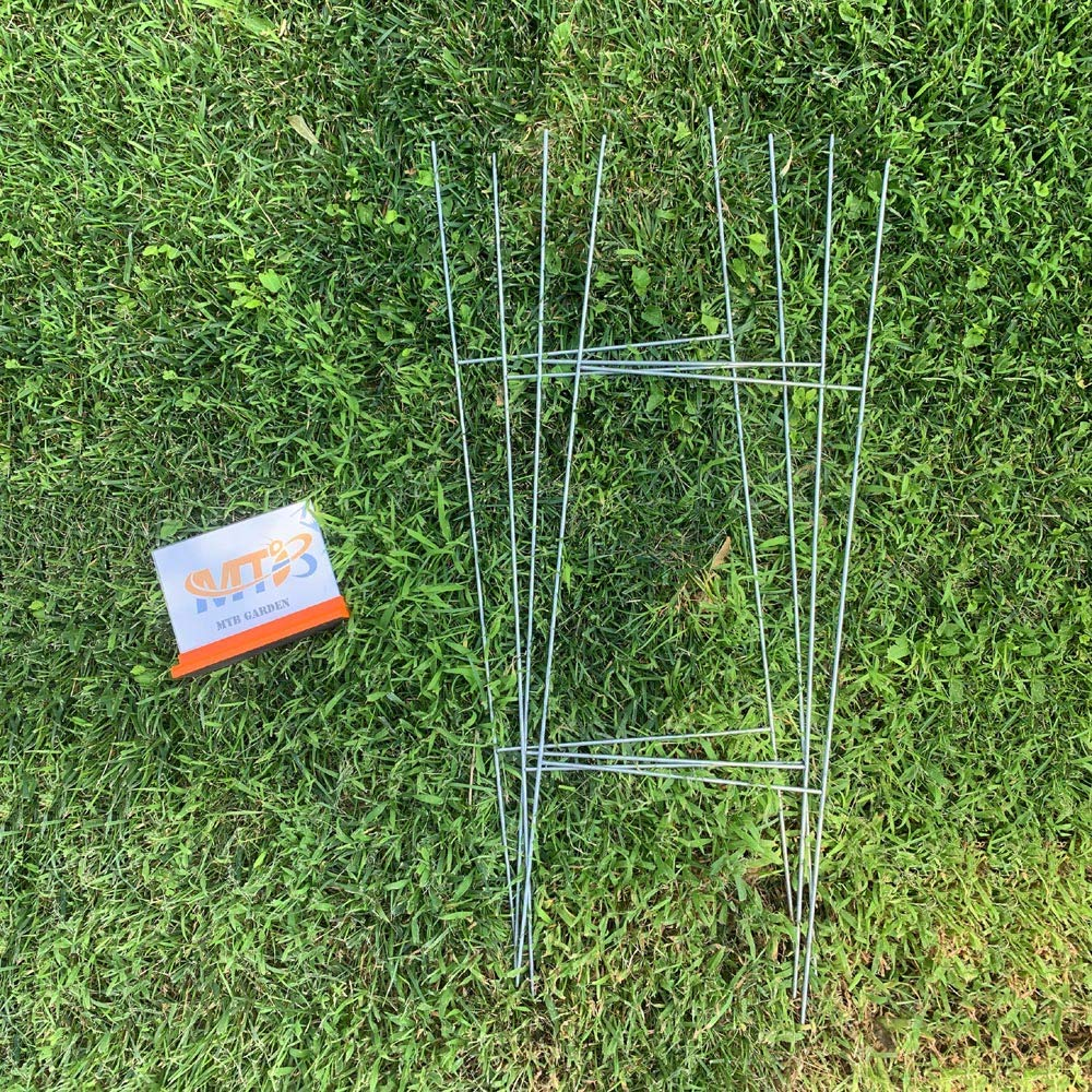 MTB H Frame Wire Stakes 30''x10'' (Pkg of 100) 9ga Metal -Yard Sign Stakes for Advertising Board,Realestate,Commercial Campaign,Yard Stakes for Signs,Wire Stakes for Yard Signs