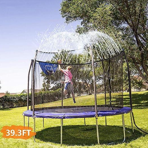 ELTON Aspersor de trampolín, aspersores de Juegos de Agua al Aire Libre para niños Parque acuático Divertido Juegos de Verano Aspersor de Juguetes de jardín (39.3FT / 12M): Amazon.es: Hogar