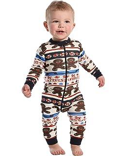 d569fc6e67 Amazon.com  Pajamarama Baby Boys  Christmas Gingerbread Man Footed ...