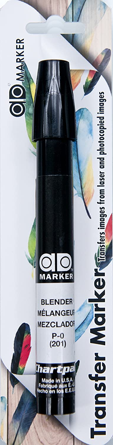 The Original Chartpak AD Marker Blister-Carded, Tri-Nib, Blender (Colorless), 1 Each (P-OBC)
